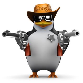 Google penguin avec ses flingues